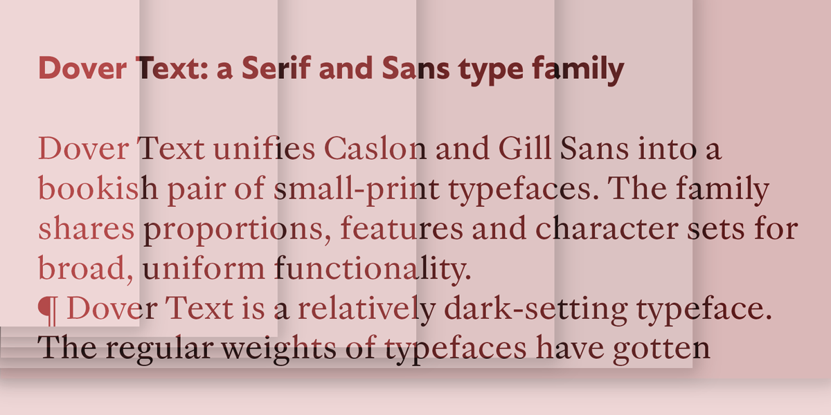 Dover Text · Tiny Type, typefaces for all sorts of cases